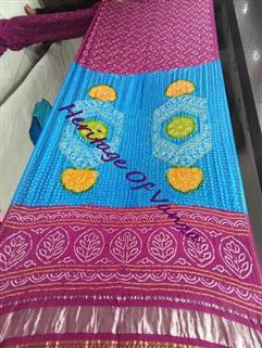 Bandhani Saree Gaji Fancy Design