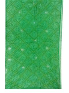 Bandhani Saree In Georgette Parrot Green