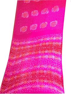 Bandhani Saree In Chinon Fancy 6