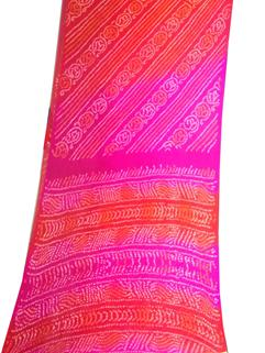 Bandhani Saree In Chinon Fancy 7