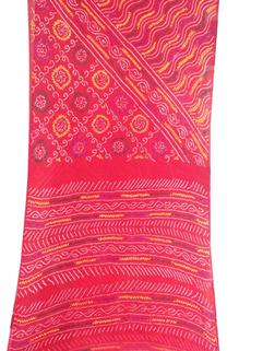 Bandhani Saree In Chinon Fancy 8