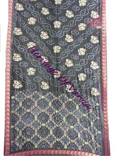 Bandhani saree in Gadhwal Silk 5