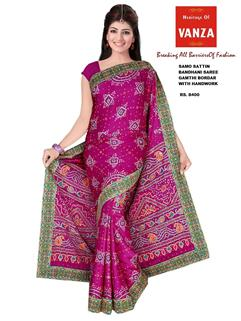 Bandhani Samo Silk With HandWork 1