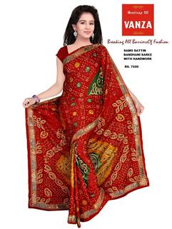 Bandhani Samo Silk With HandWork 2
