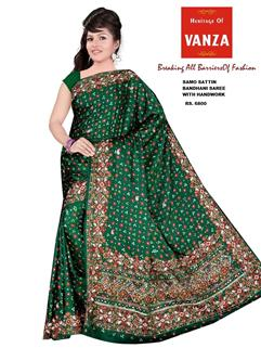 Bandhani Samo Silk With HandWork 6