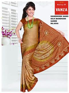 Bandhani Samo Silk With HandWork 8