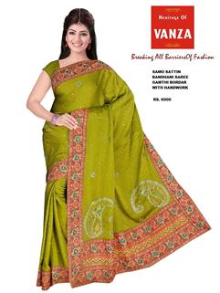 Bandhani Samo Silk With HandWork 11