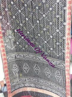 Bandhani Saree In Dupion Silk  Fancy Design Black