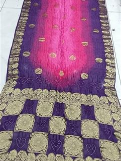 Bandhani Saree In Diamond Georgette Saree 10