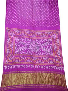 Bandhani Saree Gaji Silk In Pink
