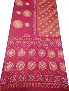 Bandhani Saree Gaji Silk Fancy Design