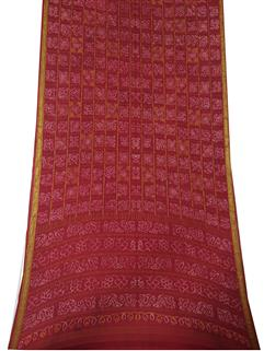 Bandhani Saree In Crape Red