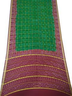 Bandhani Saree In Real Zari Crape Silk