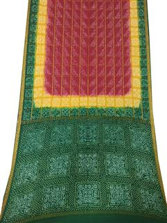 Bandhani Saree In Pure Crape Silk 2