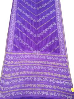 Bandhani Saree In Italian Crape Real Zari