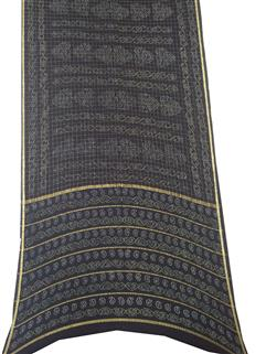 Bandhani Saree In Real Zari Cape Black