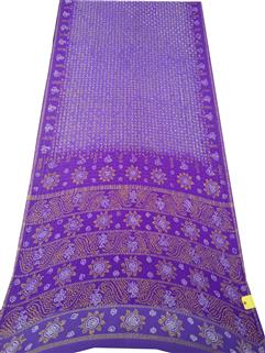Bandhani Saree In Real Zari Cape Lavender