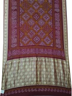 Bandhani Saree In Real Zari Silk  Red