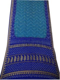 Banarasi silk blue