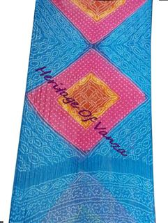Bandhani Saree In Georgette Fancy Designer Multi Colour