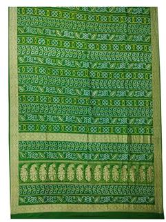 Banarasi siLk real zari Green