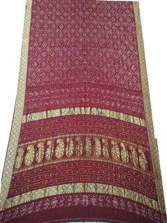 Bandhani Saree In Real Zari red