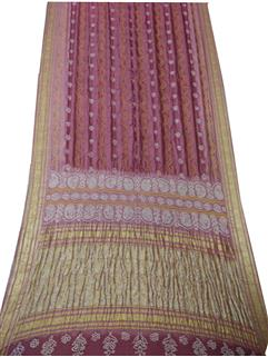 Bandhani Saree In Banarasi silk Real Zari baby pink