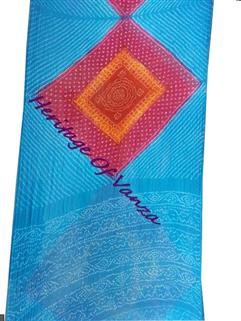 Bandhani Saree In Georgette Fancy Design Multi Colour