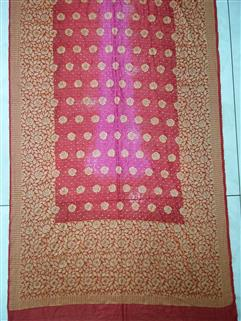 Bandhani saree in Gadhwal Silk 18