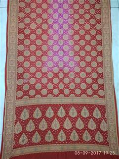 Bandhani saree in Gadhwal Silk 21