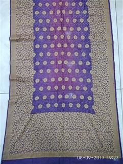 Bandhani saree in Gadhwal Silk 23