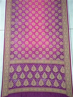 Bandhani saree in Gadhwal Silk 24