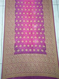 Bandhani saree in Gadhwal Silk 25