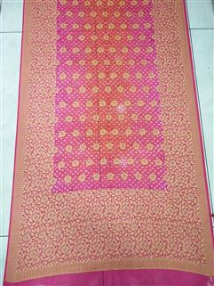 Bandhani saree in Gadhwal Silk 26