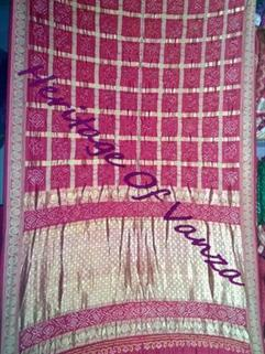 Bandhani Silk Gharchola Traditional Real Zari