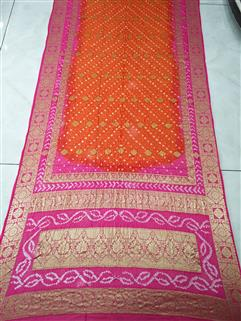 Bandhani Saree In Dimond Georgette Saree 75
