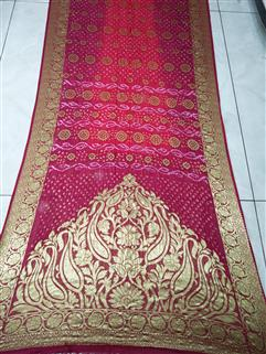Bandhani Saree In Dimond Georgette Saree 79