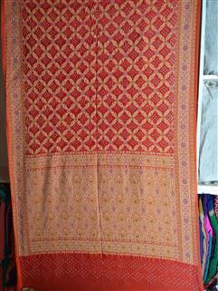 Bandhani saree in Gadhwal Silk 28