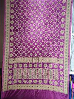 Bandhani saree in Gadhwal Silk 29
