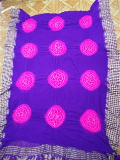 Bandhani Saree In Crape 11