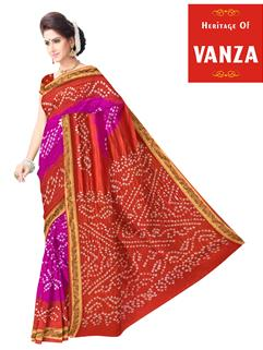 Tapeta Silk Bandhani Saree 1