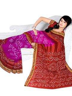 Tapeta Silk Bandhani Saree 5