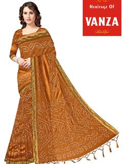 Tapeta Silk Bandhani Saree 6