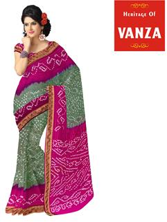 Tapeta Silk Bandhani Saree 7