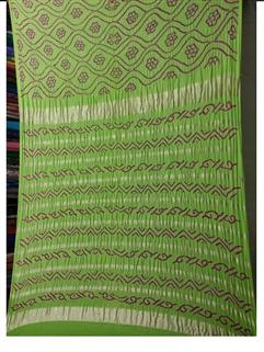 Bandhani Saree Gaji Fancy Design L.Green