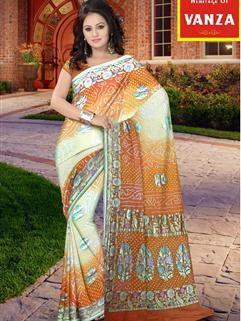 Bandhani Saree In  Maysori Georgette Saree 6